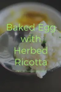 Baked Egg with Herbed Ricotta