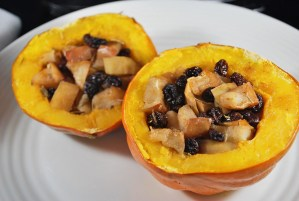 Apple and Raisin Stuffed Acorn Squash