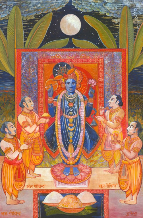 Shri Nathji, gouache on paper, 30 x 45 cm approx, private collection.