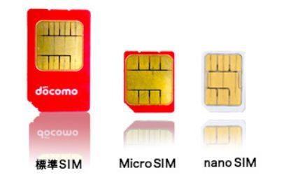 Sim card, Microsim e nanosim