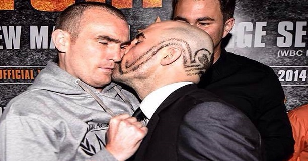 spike kisses Fitzy