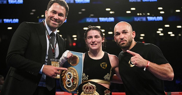 Unified champion Katie Taylor shows of her wears