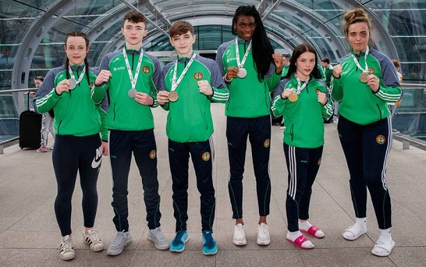 Moorehouse and Ireland's other medalists fromt the 2018 European Youths