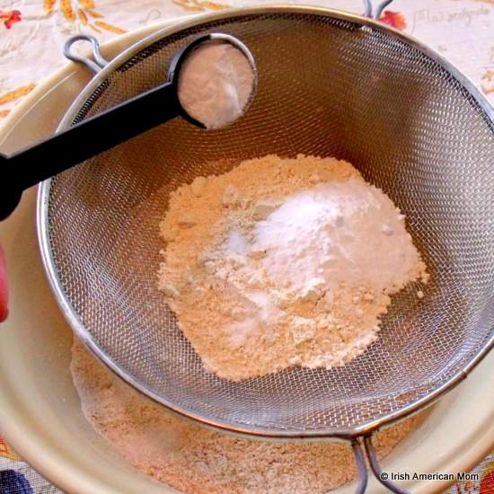 Adding salt to flour