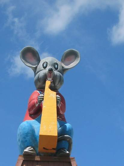 Mouse with Cheese Statue