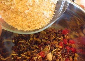 Bread crumbs for Christmas Pudding