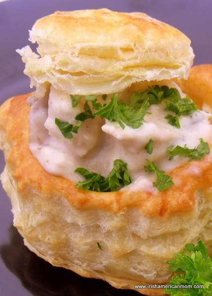 Chicken and mushroom vol-au-vent