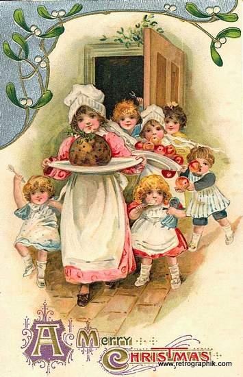 Christmas Pudding - Vintage Image