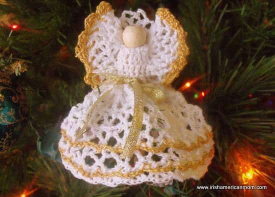 Crochet angel on clothes pin