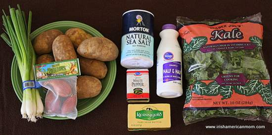 Ingredients for Colcannon