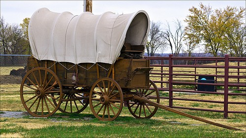 Old Western Covered Wagon