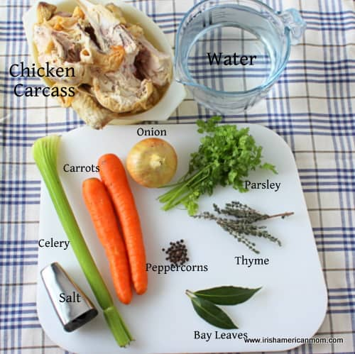 Ingredients for Chicken Stock