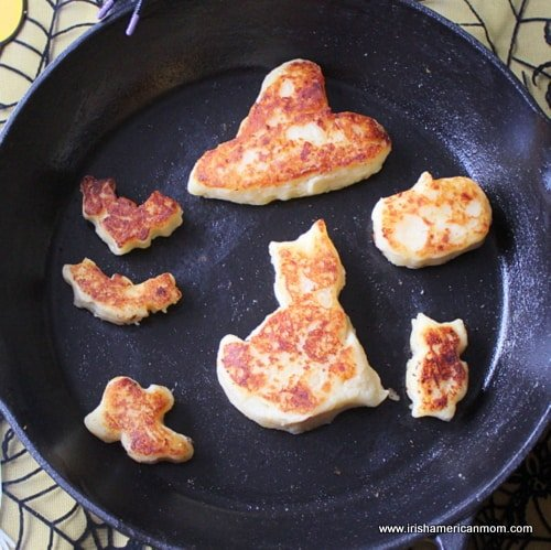 Halloween potato cakes