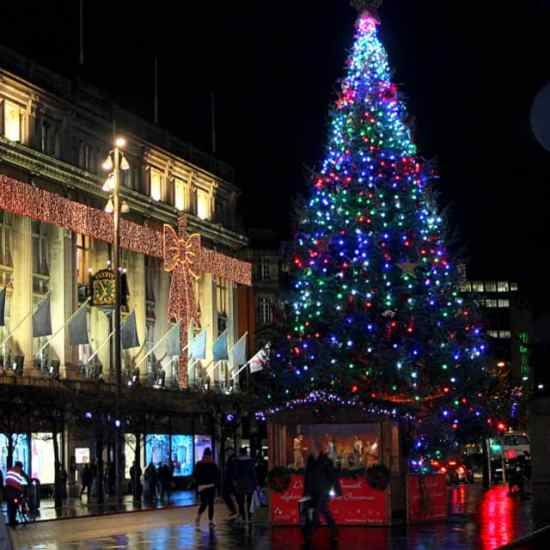 Clerys Dept Store Dublin plus the GPO Christmas Tree