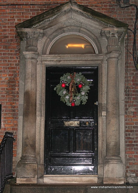 Doors of Dublin with Christmas Wreath