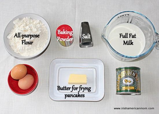 Ingredients for drop scones