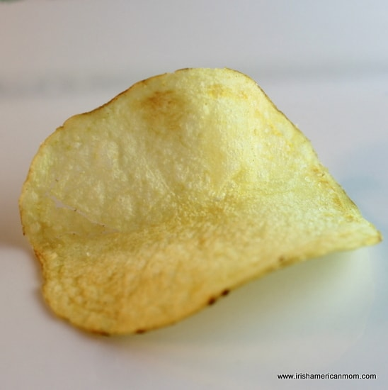 One Tayto cheese and onion crisp