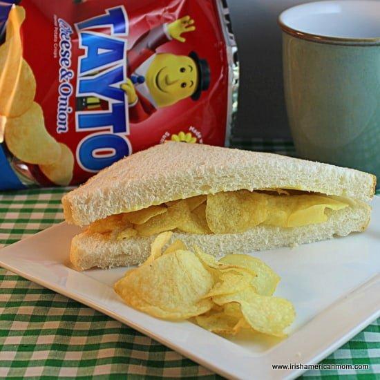Tayto crisp sandwich