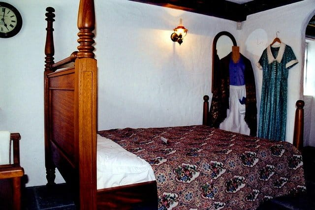 Bedroom in the Quiet Man cottage museum in Cong, Co. Mayo