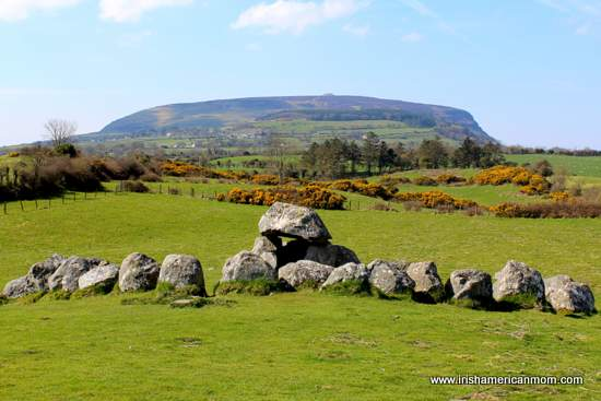Knocknarea as seen from the dolmen at Carrowmore