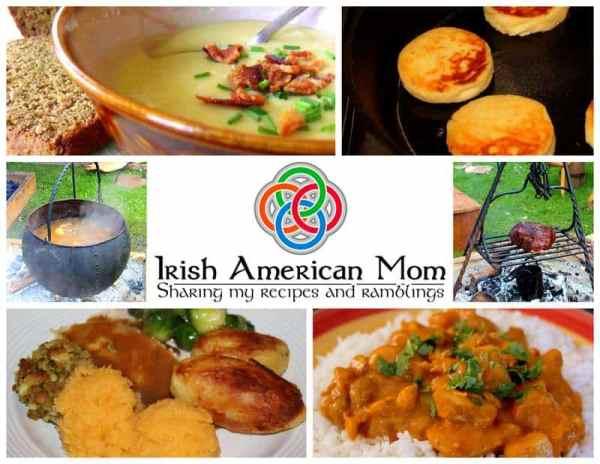Irish American Mom Food Collage