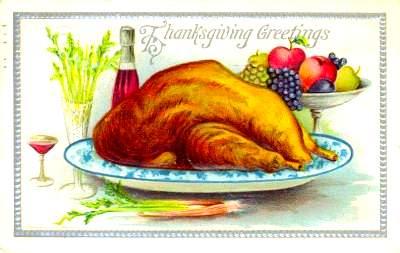vintage turkey on a platter
