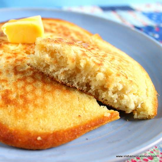 Light and fluffy - the inside of a buttermilk pancake