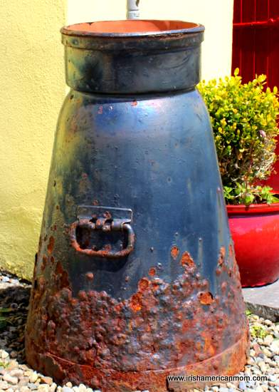 A black rusty churn in County Clare, Ireland
