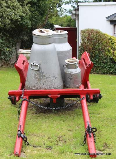 Milk Churns on a cart in Adare County Limerick