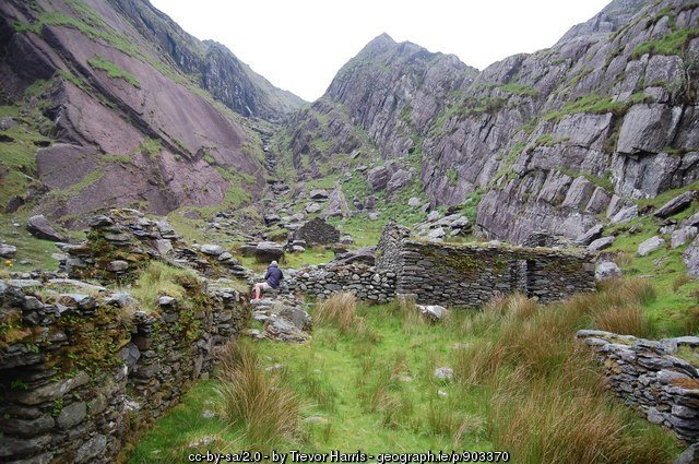 Abandoned hamlet at Cumingeera, County Kerry