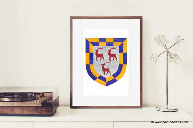 Irish clan or crest modern artwork by Painted Clans