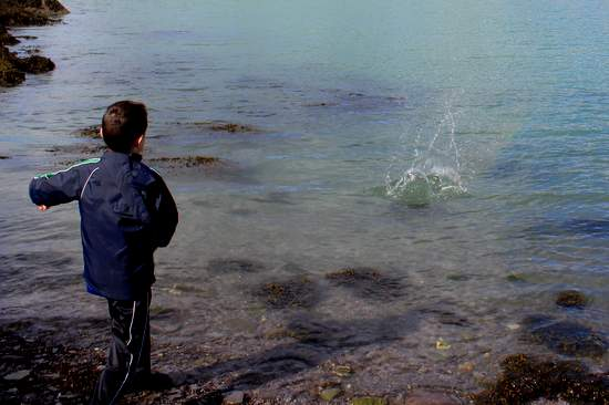 Skimming stones in Ireland