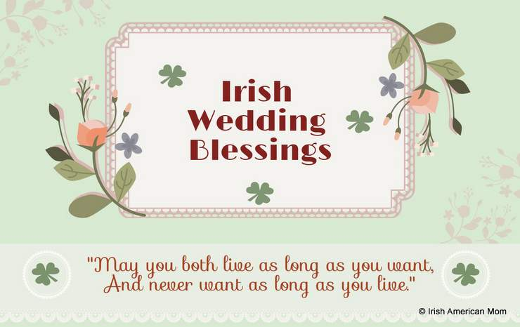Irish wedding blessings and sayings