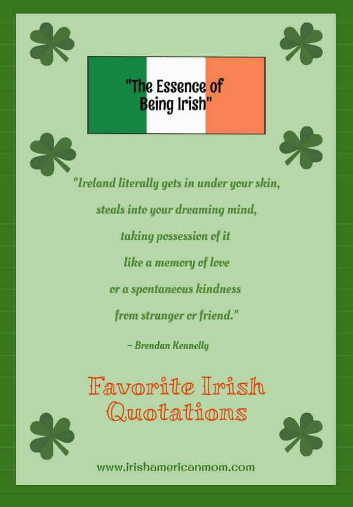 Quotation about what it means to be Irish