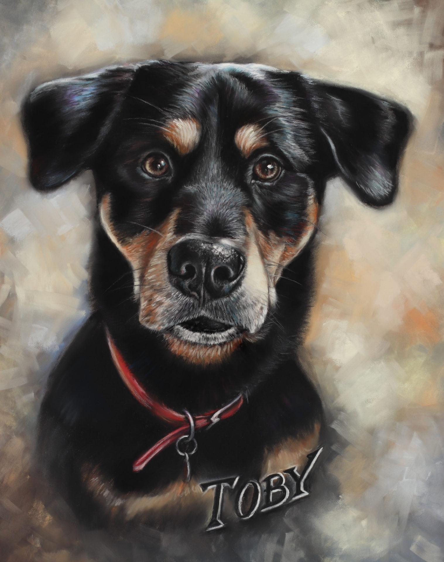 commission dog portrait uk