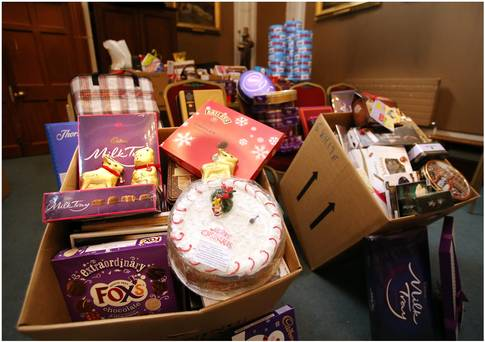 Charity gifts appeal fills 12 vanloads