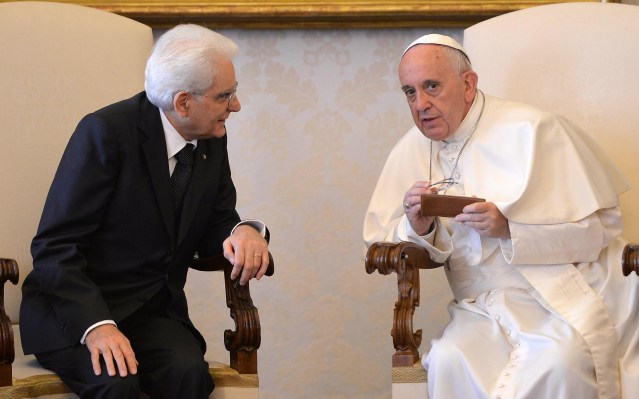 Italian president and Pope discuss country's challenges