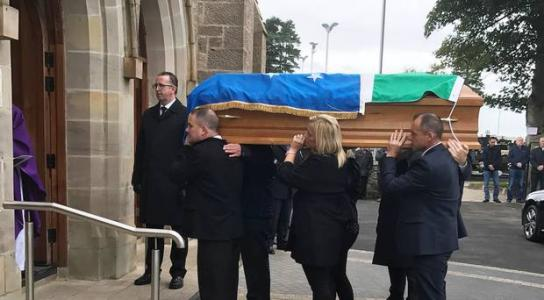 Nationalist flags at funeral 'desperate attention-seeking'