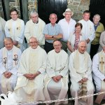 KERRY: The priests who celebrated the annual Mass for the Holy Souls at Rath cemetery, Tralee – attended by more than 2,000 people – pictured with the committee. From left, sitting: Canon Seamus Linnane, Fr Tadhg Fitzgerald PP, Fr Dan O'Riordan PP, VF, Fr Pat Crean-Lynch PP, Archbishop Tom Crean PP, Msgr Sean Hanafan VG and Fr Neill Howard CC; back, Joe Moynihan, Olga Tarantsoba, Fr John Buckley, Fr Bernard Healy CC, Fr Tomás O'Keeffe, Billy Locke, chairman<br /> Rath Committee, Danny and Kathleen Lawlor, Treasurer, Fr Kieran O'Brien Adm St. Mary's Cathedral Killarney, Sonny and Elsie Healy, Noreen Hanafin, Denis O'Shea and Frances Quirke. Photo: John Cleary