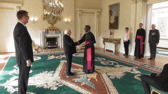 The Pope's new representative to Ireland Papal Nuncio Archbishop Jude Thaddeus Okolo