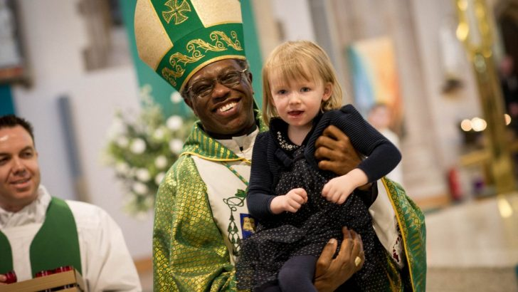 Papal Nuncio's blessing in Derry