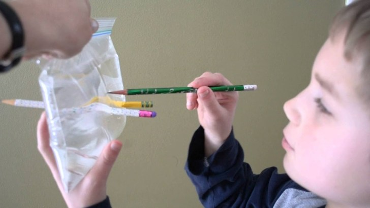 Push a pencil through a bag of water…without spills!