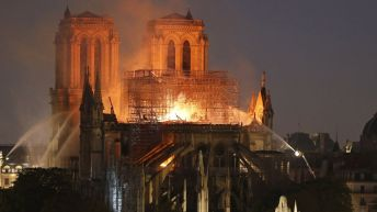 Pope prays for Notre-Dame reconstruction after disaster