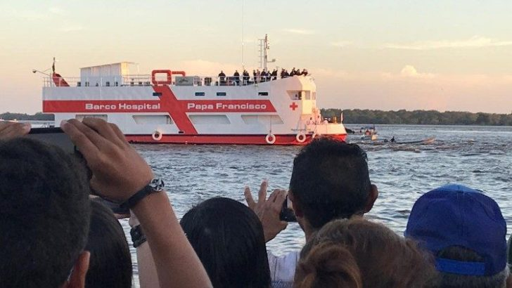Missionary boat sets sail on Amazon river