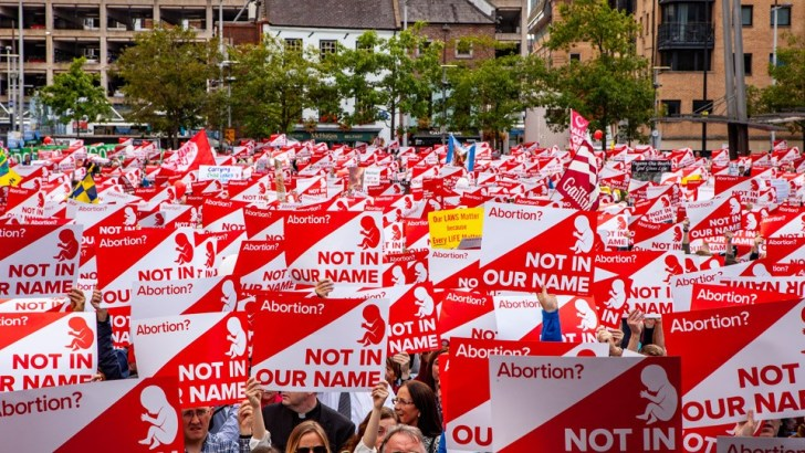 Belfast march hears clear message: not in our name