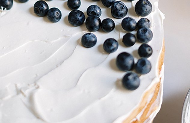 Enjoy a tasty summer treat with lemon and blueberry cake