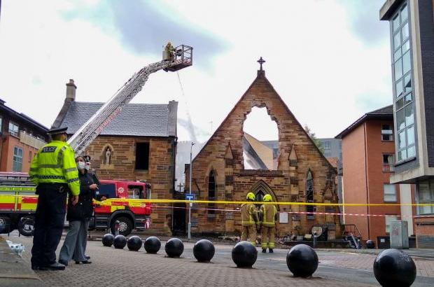 Glasgow church fire a 'heavy blow' for local community