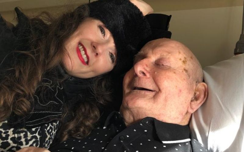Mulligan with her late grandfather Kevin