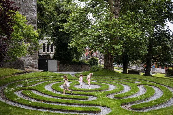 The new Playful Culture Trail will allow your kids to hop through labyrinths at St Fin Barre's Cathedral, among other things. Photo: Clare Keogh