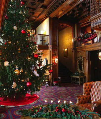 Christmas at Ashford Castle - photo courtesy of Ashford Castle